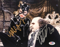 "Michelle Pfeiffer & Danny DeVito Signed ""Batman Returns"" 8x10 Photo (PSA LOA)"