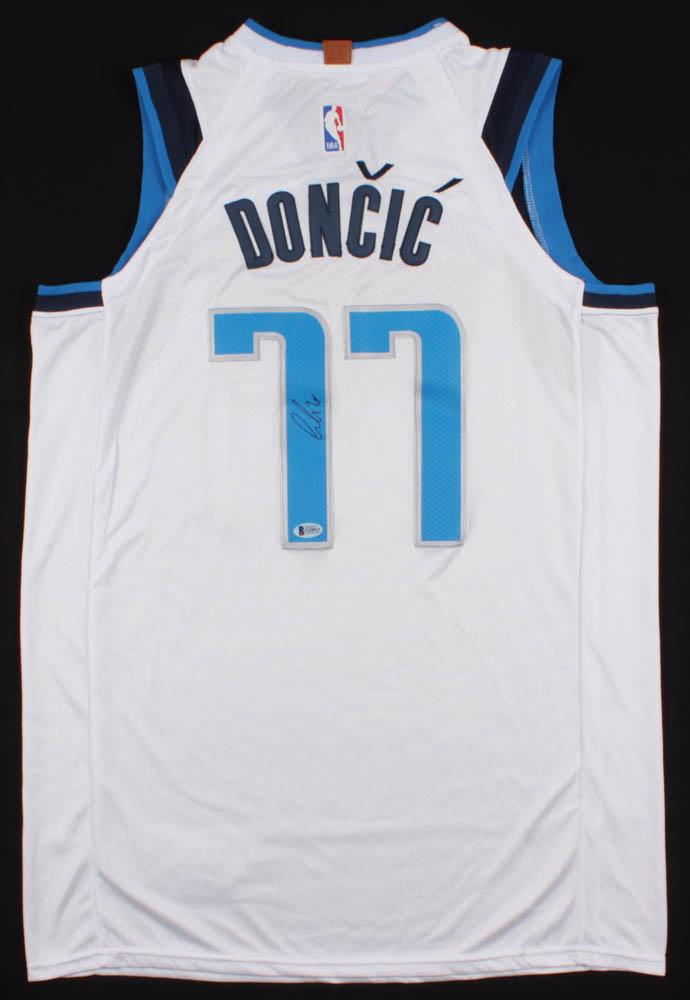 4d04c2a5e Luka Doncic Signed Mavericks Jersey (Beckett COA) at PristineAuction.com