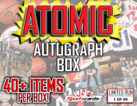 "Sportscards.com ""Atomic Autograph Box"" Mystery Box  - 40+ Signed Items Per Box!"