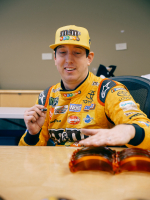 Kyle Busch Signed 2018 NASCAR M&M Caramel Full-Size Helmet (PA COA) at PristineAuction.com