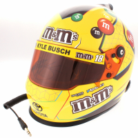 Kyle Busch Signed 2018 NASCAR M&M Full-Size Helmet (PA COA) at PristineAuction.com