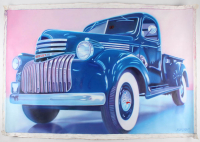 "Frank Karper Signed ""Chevy 1948"" 34x49 Original Acrylic Painting on Canvas (PA LOA)"