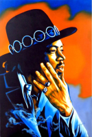 "Hector Monroy Signed ""Jimi Hendrix"" 28.75x41.5 Original Oil Painting on Canvas (PA LOA) at PristineAuction.com"