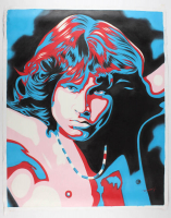 "Hector Monroy Signed ""Jim Morrison"" 33x40.75 Original Oil Painting on Canvas (PA LOA) at PristineAuction.com"