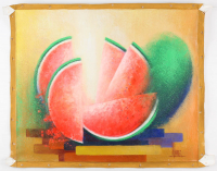 """Jose Alvarez Signed """"The Watermelons"""" 21x25 Original Acrylic Painting on Canvas (PA LOA) at PristineAuction.com"""