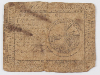 1775 $2 Two Dollars Continental Colonial Currency Note
