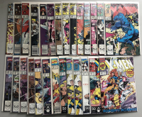 Lot of (27) 1988-91 Uncanny X-Men 1st Series Marvel Comic Books