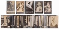 Lot of (30) High Grade 1901 Ogden's Guinea Gold Actor Cards