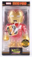 """Stan Lee Signed """"Iron Man"""" Marvel Hikari Vinyl Action Figure (Radtke Hologram & Lee Hologram)"""