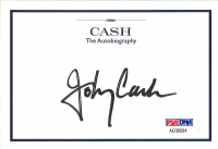 "Johnny Cash Signed ""Cash: The Autobiography"" Bookplate (PSA LOA) at PristineAuction.com"