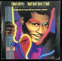 "Chuck Berry Signed ""Hail! Hail! Rock 'N' Roll"" Album Cover (Beckett COA)"