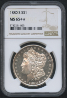 1880-S $1 Morgan Silver Dollar (NGC MS 65+*) at PristineAuction.com