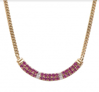 6.12 CT Ruby & Diamond Elegant Necklace