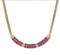 6.12 CT Ruby & Diamond Elegant Necklace