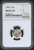 1941-S 10¢ Mercury Silver Dime (NGC MS 65* FB) at PristineAuction.com
