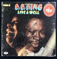 "B.B King Signed ""Live & Well"" Album Cover (PSA COA)"