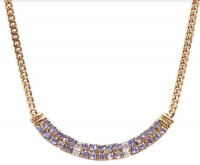 6.14 CT Tanzanite & Diamond Elegant Necklace