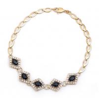 7.88 CT Black Sapphire & Diamond Designer Bracelet