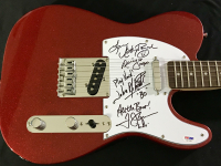 Catherine Bach, Tom Wopat & John Schneider Signed LE Fender Telecaster Full-Size Electric Guitar with (4) Inscriptions (PSA COA)