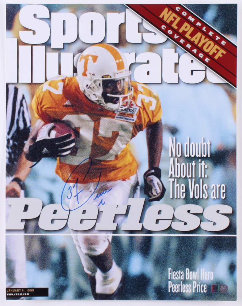 Peerless Price Signed Tennessee Volunteers 11x14 Photo AIV COA At PristineAuction
