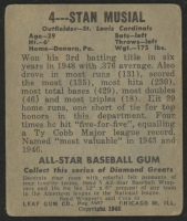 1949 Leaf #4 Stan Musial at PristineAuction.com