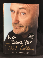 "Phil Collins Signed ""Not Dead Yet"" Hard Cover Book (PSA COA)"
