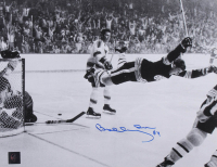 """Bobby Orr Signed Bruins """"The Flying Goal"""" 11x14 Photo (Orr COA) at PristineAuction.com"""