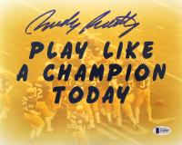 """Rudy Ruettiger Signed """"Play Like a  Champion Today"""" 8x10 Photo (Beckett COA)"""