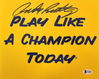 """Rudy Ruettiger Signed """"Play Like a  Champion Today"""" 8x10 Photo (Beckett COA) at PristineAuction.com"""
