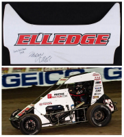 "Karsyn Elledge Race-Used 2019 Chili Bowl Nameplate Sheet Metal Inscribed ""First Chili Bowl 2019"" (PA COA) at PristineAuction.com"