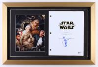"J.J. Abrams Signed 15.5x23 Custom Framed ""Star Wars: The Force Awakens"" Script Shadowbox Display with Photo (Beckett COA)"