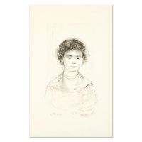 """Edna Hibel Signed """"Henri"""" Limited Edition 12x20 Lithograph at PristineAuction.com"""