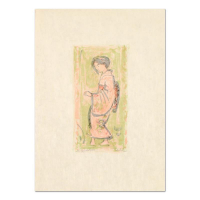 """Edna Hibel Signed """"Ume"""" Limited Edition 12x17 Lithograph on Rice Paper"""