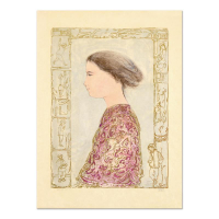 """Edna Hibel Signed """"China Profile"""" Limited Edition 22x30 Lithograph on Rice Paper at PristineAuction.com"""