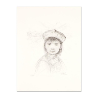 """Edna Hibel Signed """"Chu Lu"""" Limited Edition 12x16 Lithograph with Remarque at PristineAuction.com"""