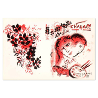 """Marc Chagall Signed """"Lithographe III"""" 20x13 Original Lithograph at PristineAuction.com"""