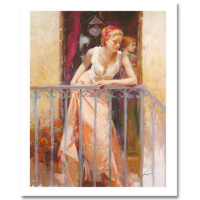 """Pino Signed """"At the Balcony"""" Limited Edition 20x16 Giclee (PA LOA) at PristineAuction.com"""