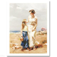 """Pino Signed """"By The Sea"""" Limited Edition 20x15 Giclee at PristineAuction.com"""