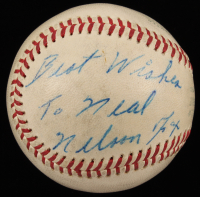 "Nelson ""Nellie"" Fox Signed OAL Baseball Inscribed ""Best Wishes"" (Beckett LOA)"
