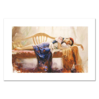 """Pino Signed """"At Rest"""" Limited Edition 20x12 Giclee on Canvas at PristineAuction.com"""