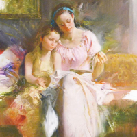 """Pino Signed """"Bedtime Stories"""" Limited Edition 12x16 Giclee on Canvas at PristineAuction.com"""