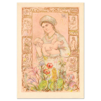 """Edna Hibel Signed """"Raquela"""" Limited Edition 26x37 Lithograph on Rice Paper at PristineAuction.com"""