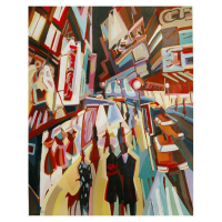 """Natalie Rozenbaum Signed """"Broadway Lights"""" Limited Edition 14x17 Giclee on Canvas at PristineAuction.com"""