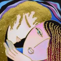 """Arbe Signed """"Little Sister"""" Limited Edition 20x24 Giclee on Canvas with Gold Embellishing at PristineAuction.com"""