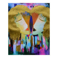 """Arbe Signed """"Duality"""" Limited Edition 24x30 Giclee on Canvas with Gold Embellishing at PristineAuction.com"""