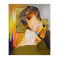 """Arbe Signed """"Adore You"""" Limited Edition 24x30 Giclee on Canvas with Gold Embellishing at PristineAuction.com"""