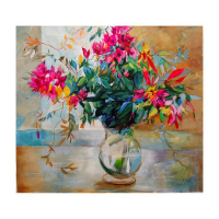 """Lenner Gogli Signed """"Abundant Blooms"""" Limited Edition 33x29 Giclee on Canvas at PristineAuction.com"""