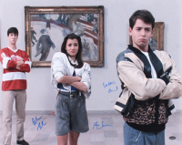 "Matthew Broderick, Mia Sara, & Alan Ruck Signed ""Ferris Bueller's Day Off"" 16x20 Photo (Schwartz COA)"