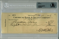 Babe Ruth Signed 1936 Personal Bank Check (BGS Encapsulated) at PristineAuction.com