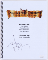 """Johnny Depp Signed """"Pirates of the Caribbean: The Curse of the Black Pearl"""" Movie Script (JSA COA)"""